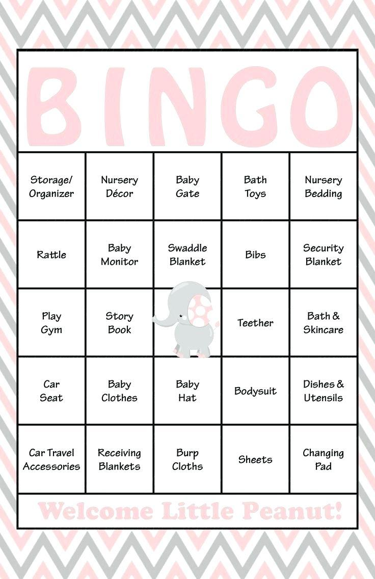 Bridal Shower Bingo Blank Cards