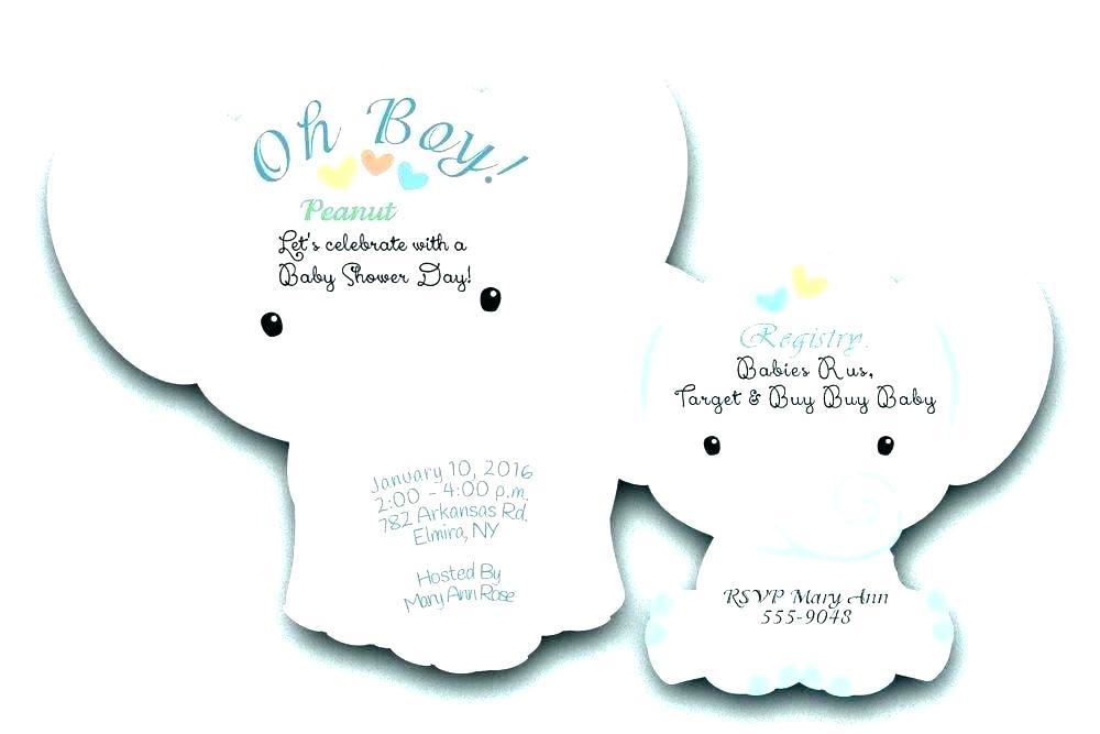 Bridal Shower Gift Registry Template
