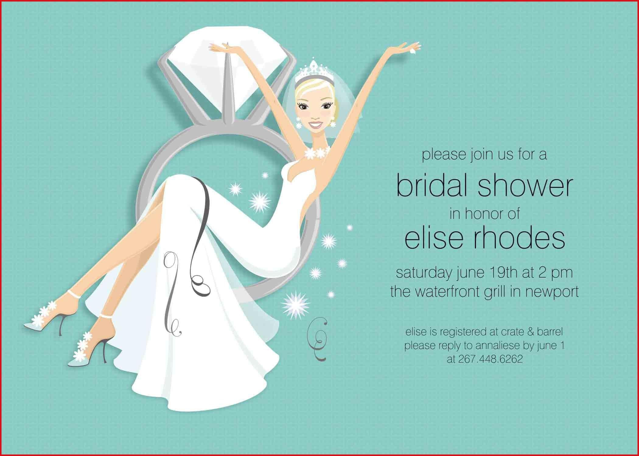 Bridal Shower Invitation Templates For Word