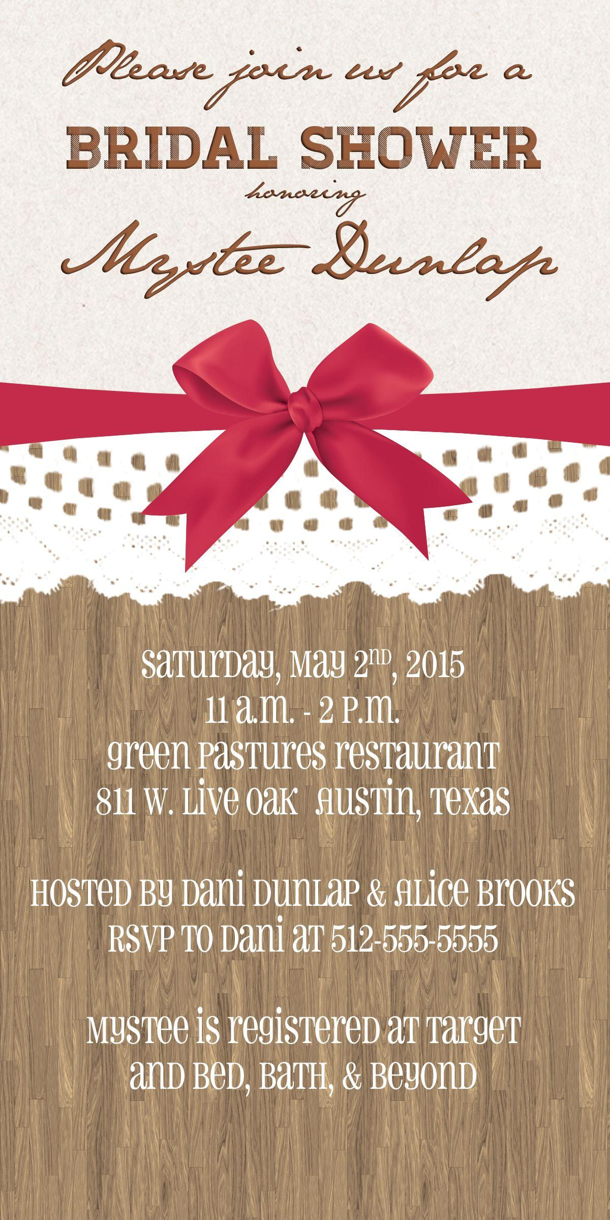 Bridal Shower Invitation Templates Pinterest