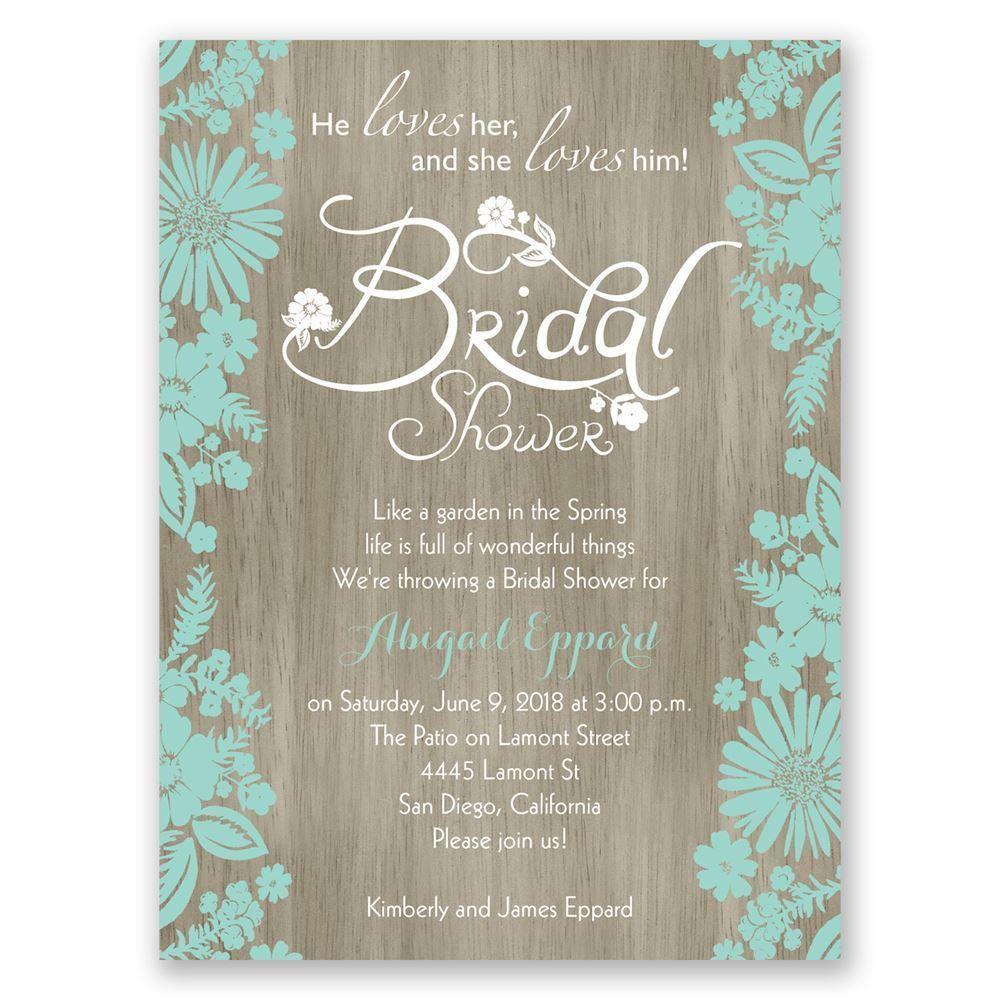 Bridal Shower Invitations Blank Templates