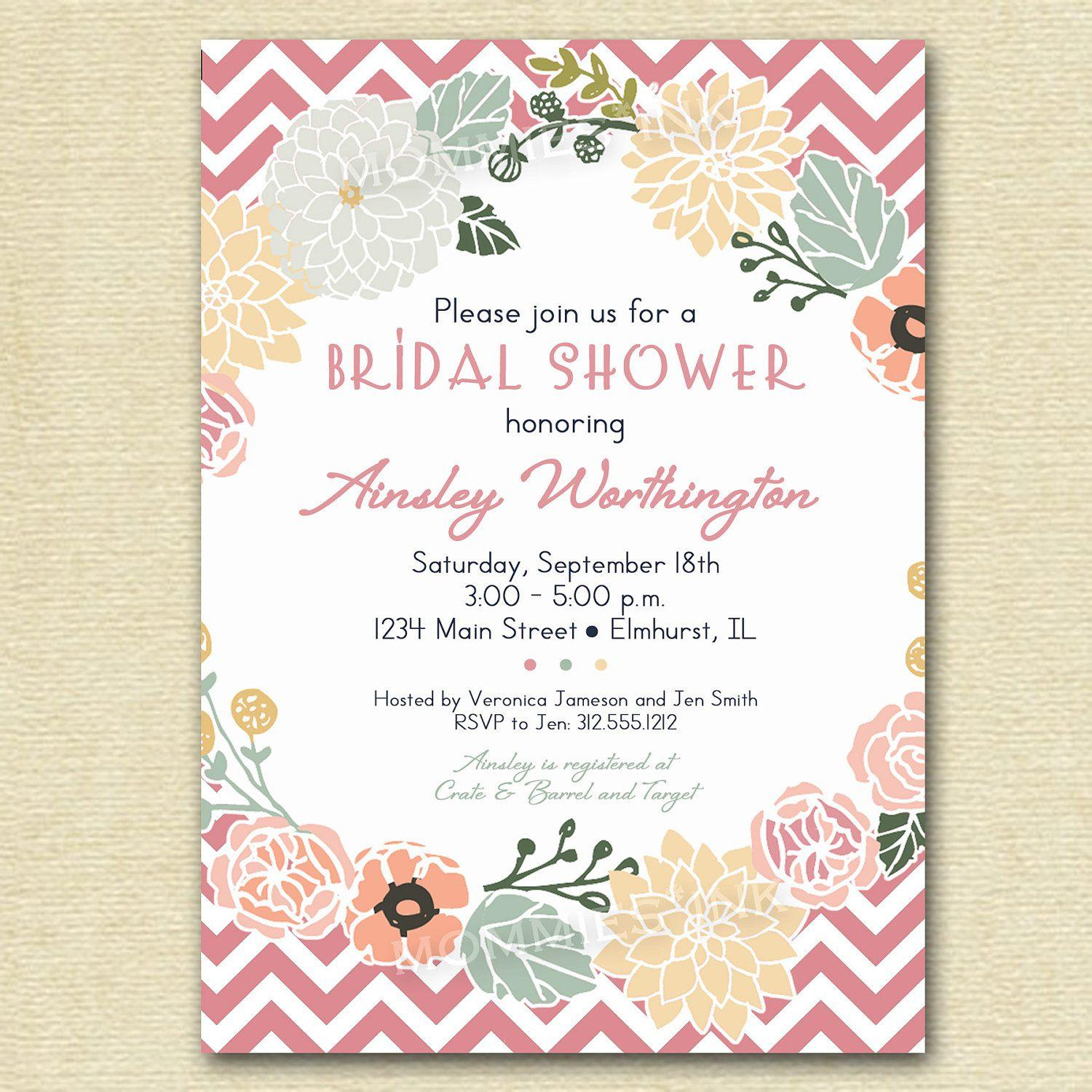 Bridal Shower Party Invitation Templates