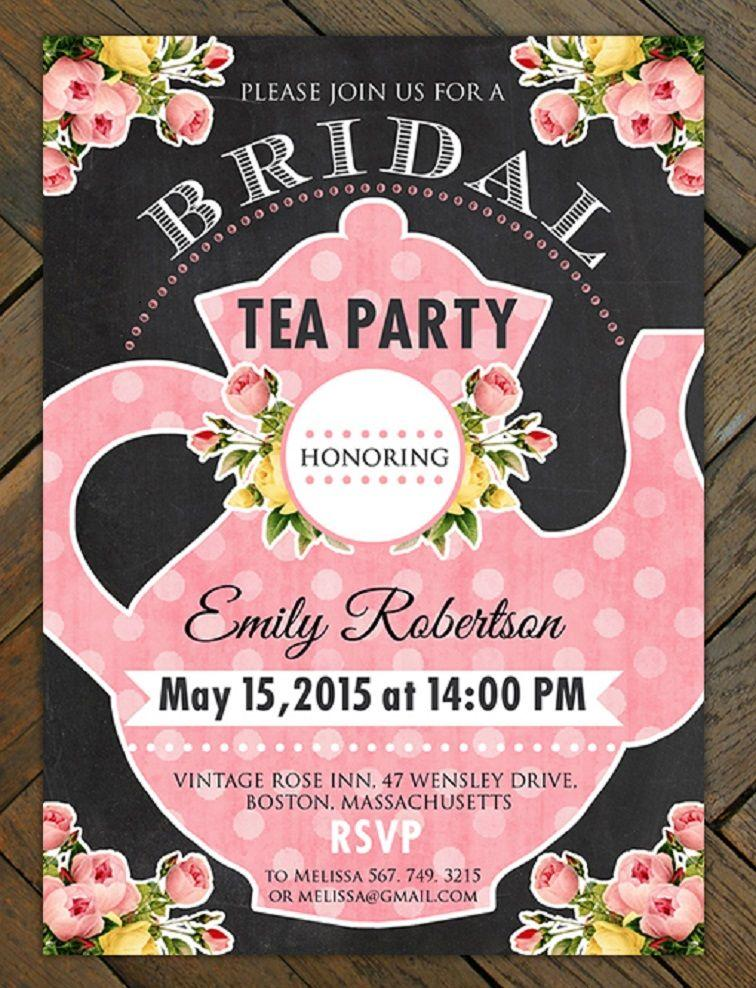 Bridal Tea Party Invitation Template