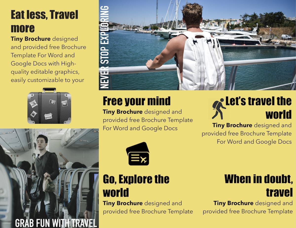 Brochure Templates Free Download Doc
