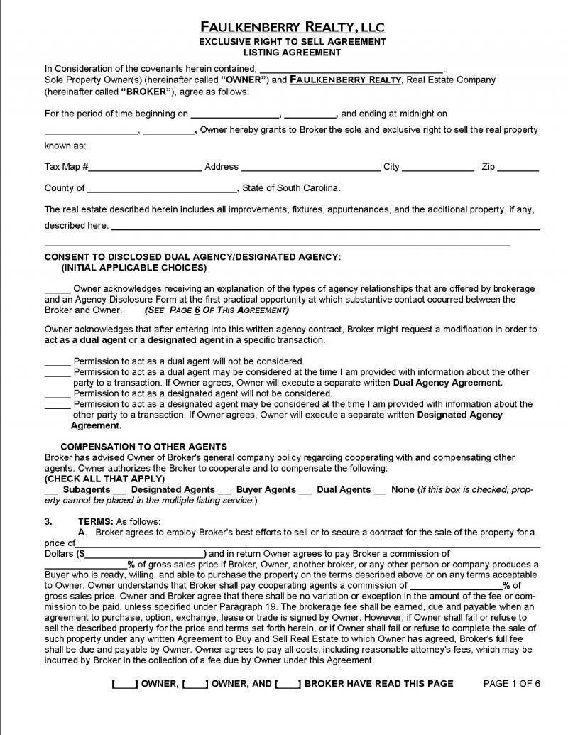 Brokerage Agreement Sample Uk