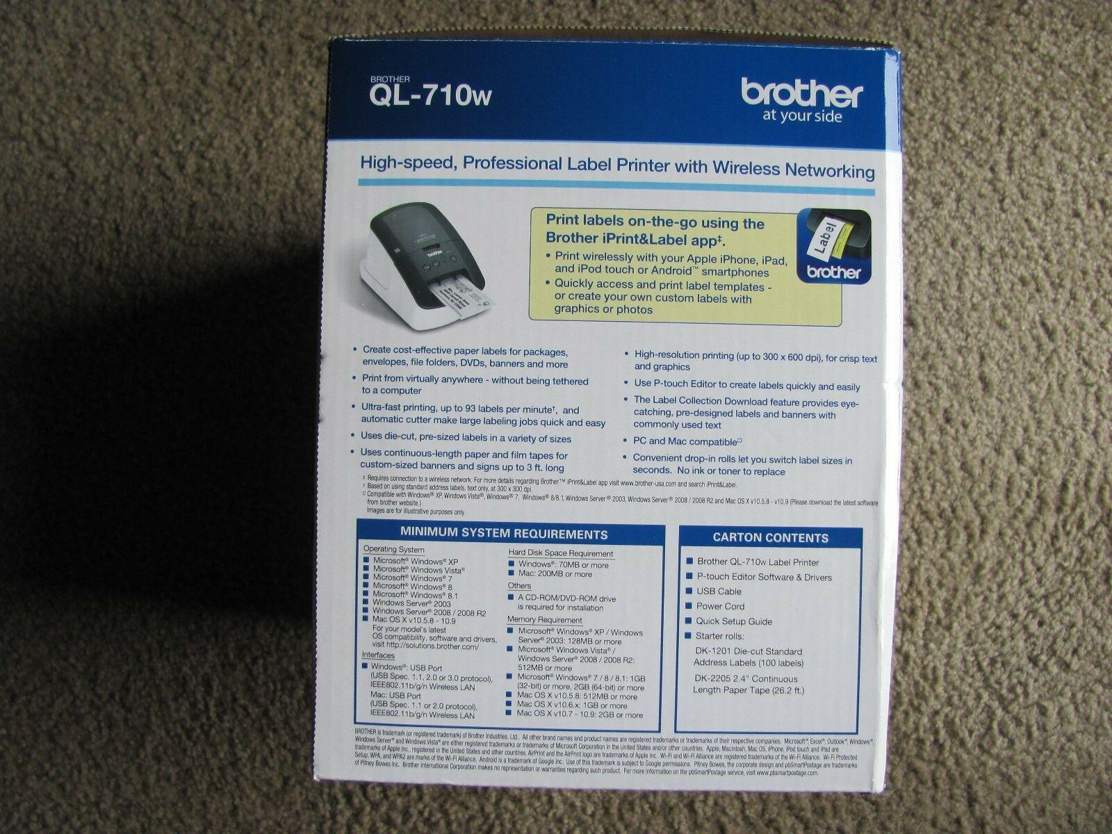 Brother Ql 710w Label Templates