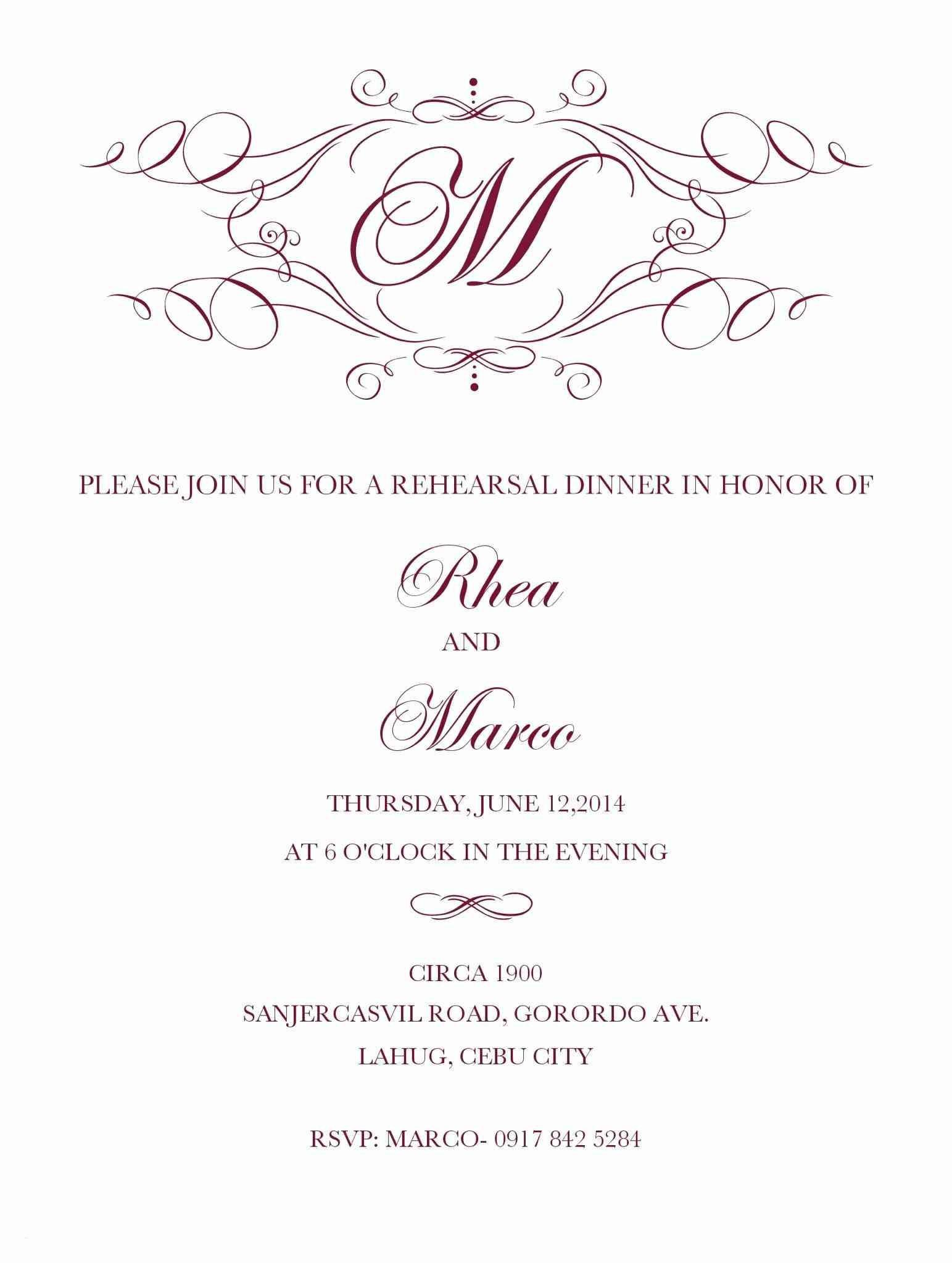 Brunch Invitation Templates Free Download