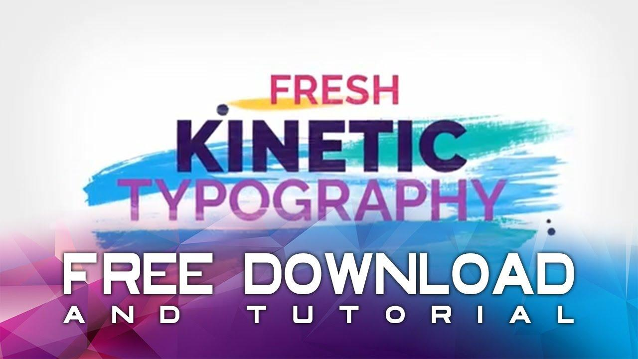 Brush Kinetic Typography (free Download) After Effects Template