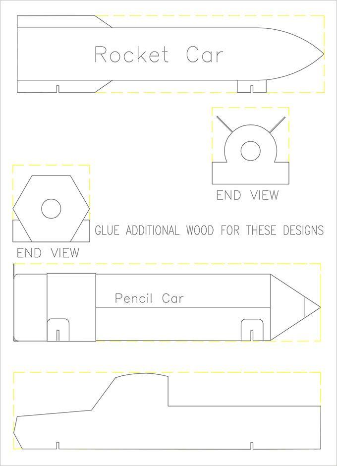 Bsa Pinewood Derby Car Templates