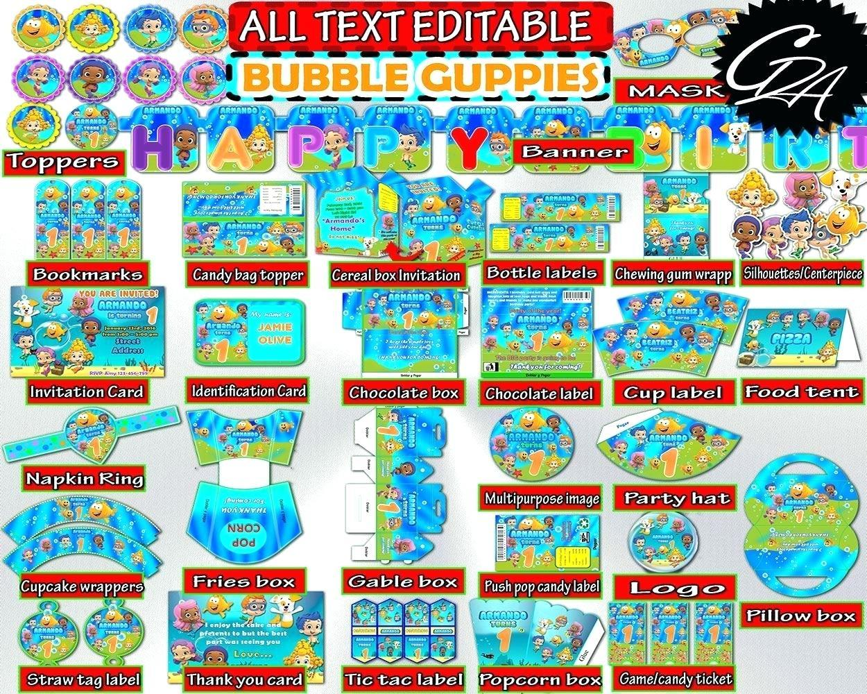 Bubble Guppies Birthday Banner Printable