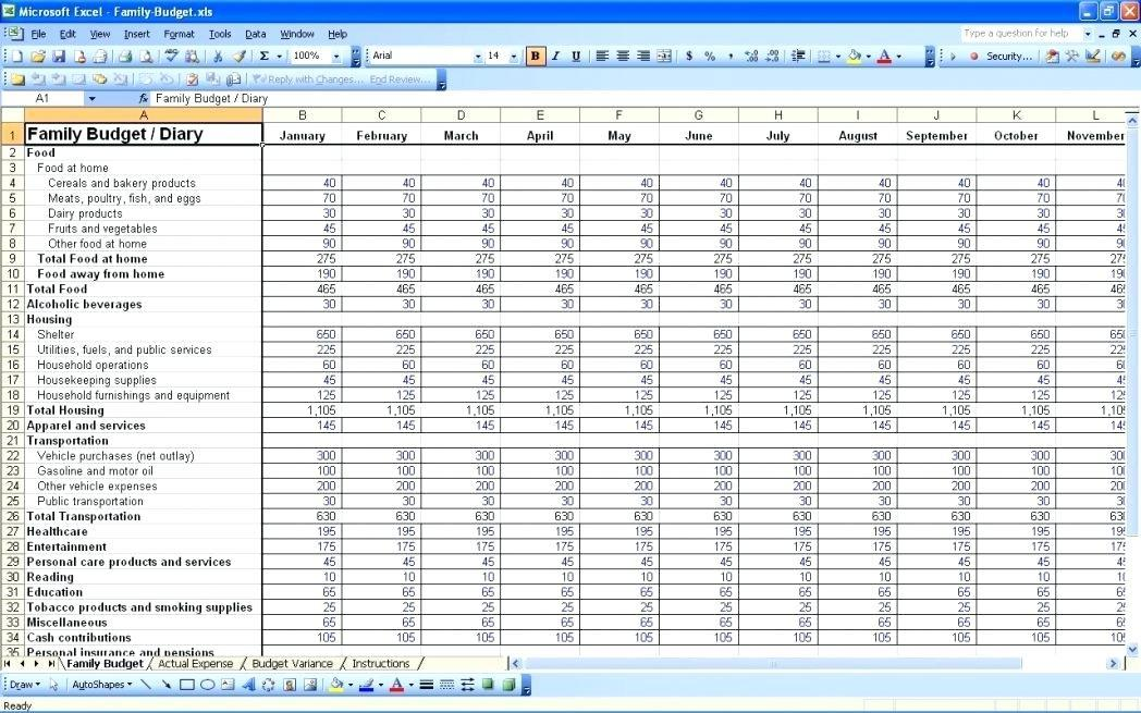 Budget Templates Online Free