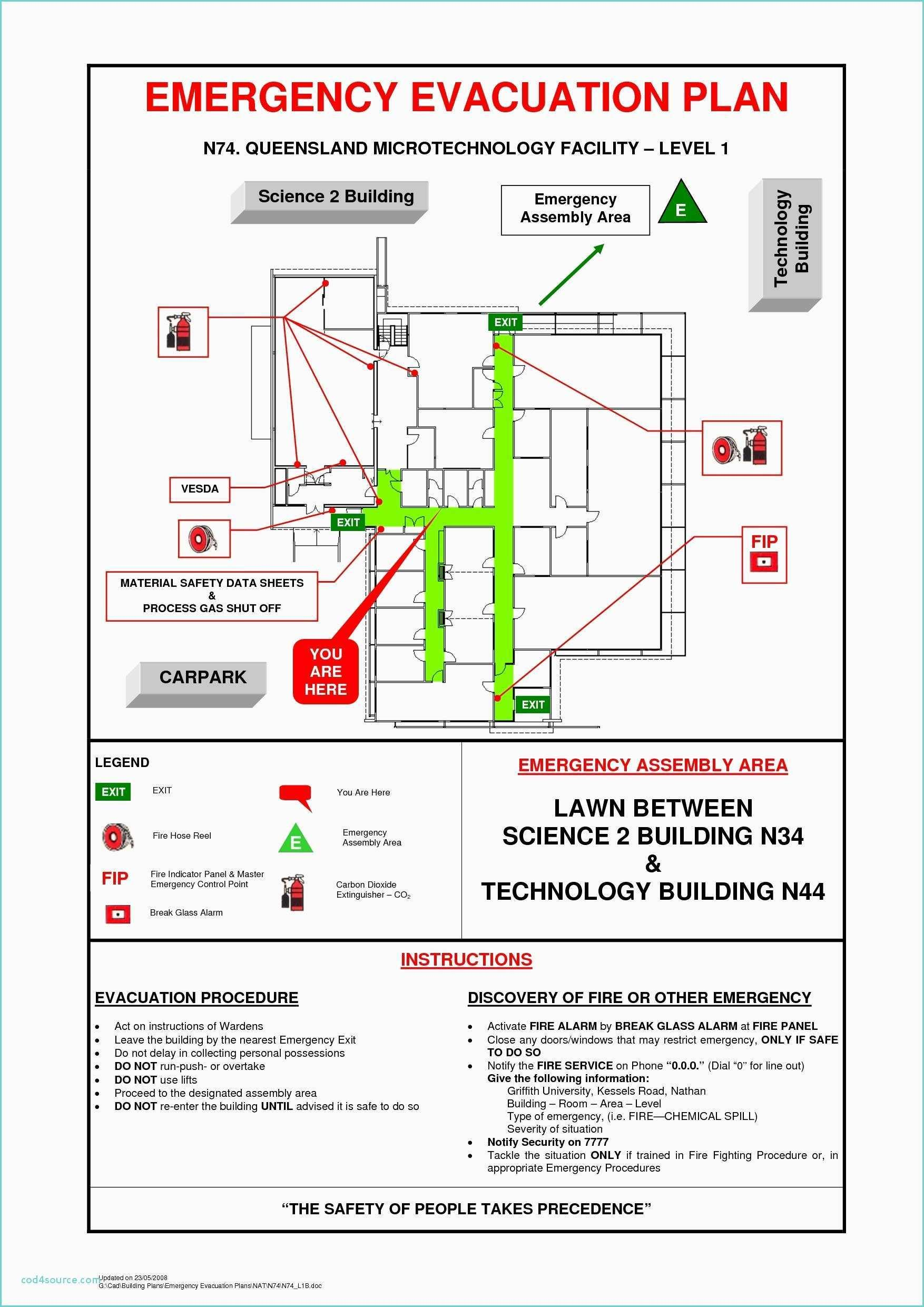Building Emergency Evacuation Plan Template