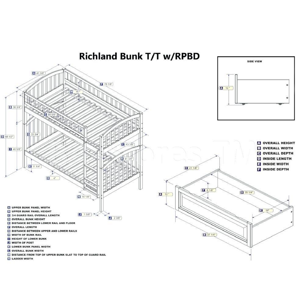 Bunk Bed Plan Cad Block