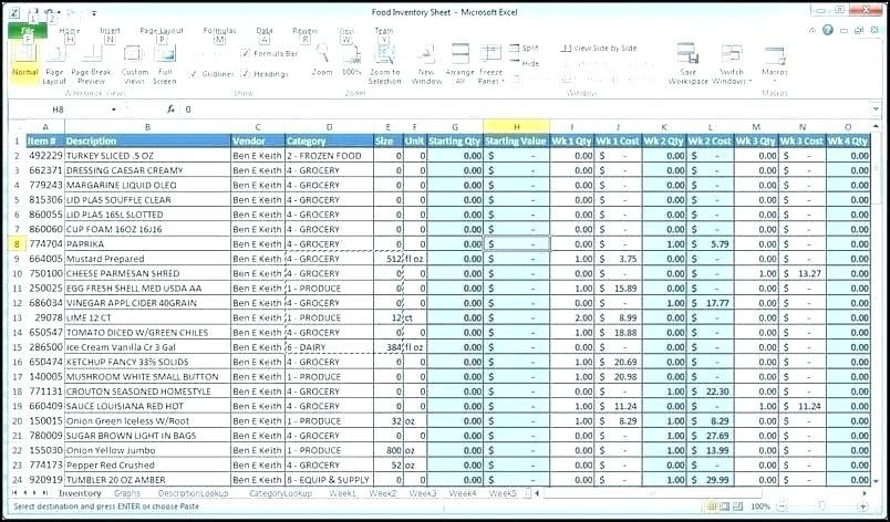 Business Bookkeeping Spreadsheet Template