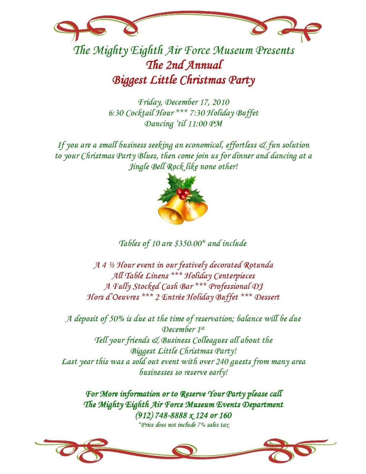 Business Christmas Dinner Invitation Wording