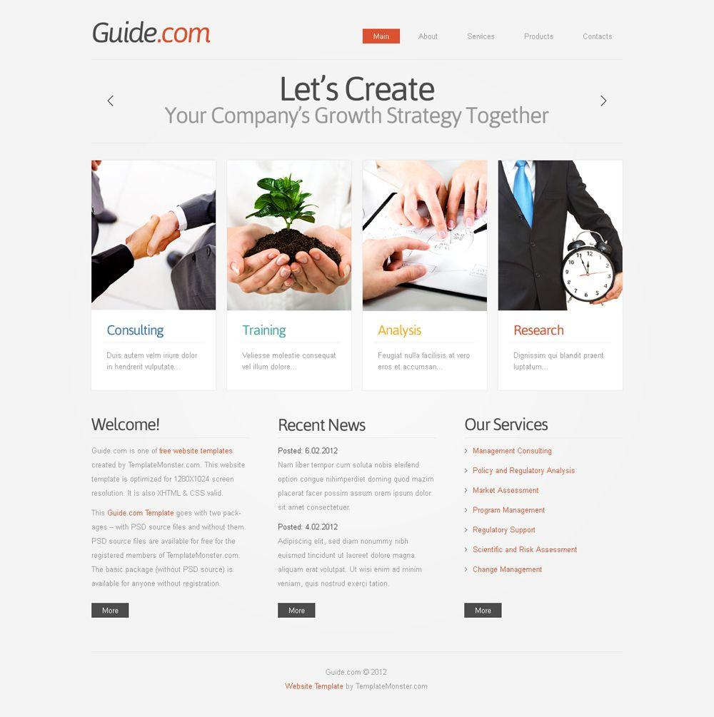 Business Consulting Websites Templates