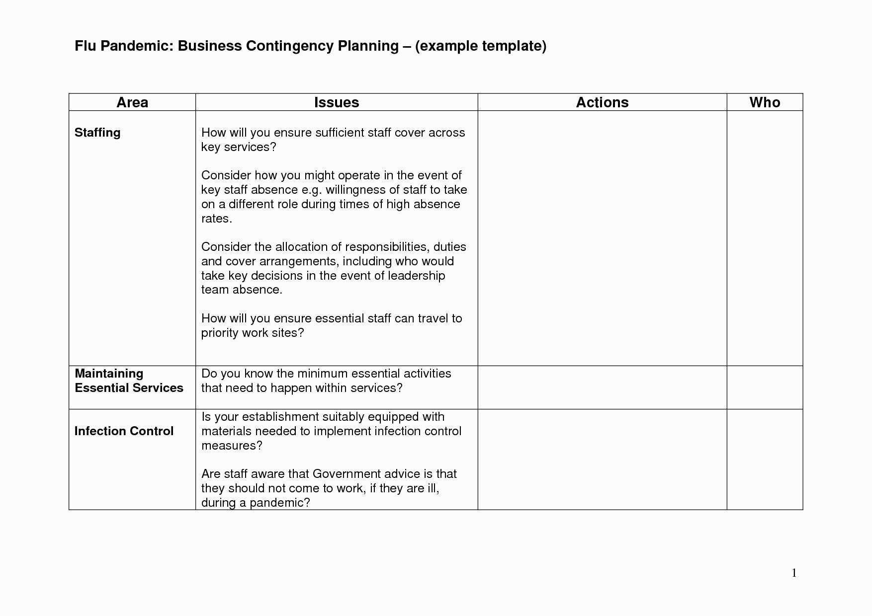 Business Continuity Plan Template For Financial Services