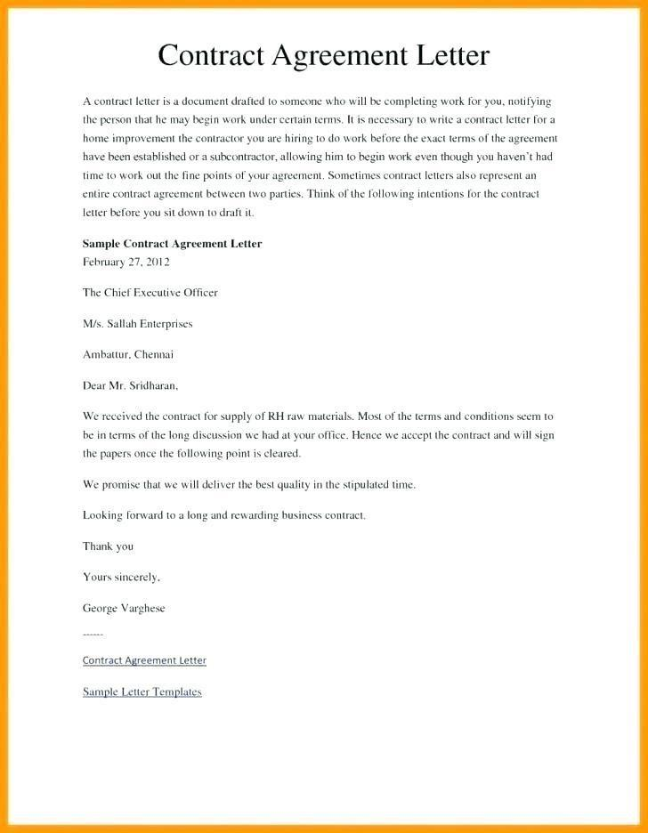 Business Contract Agreement Between Two Parties Template