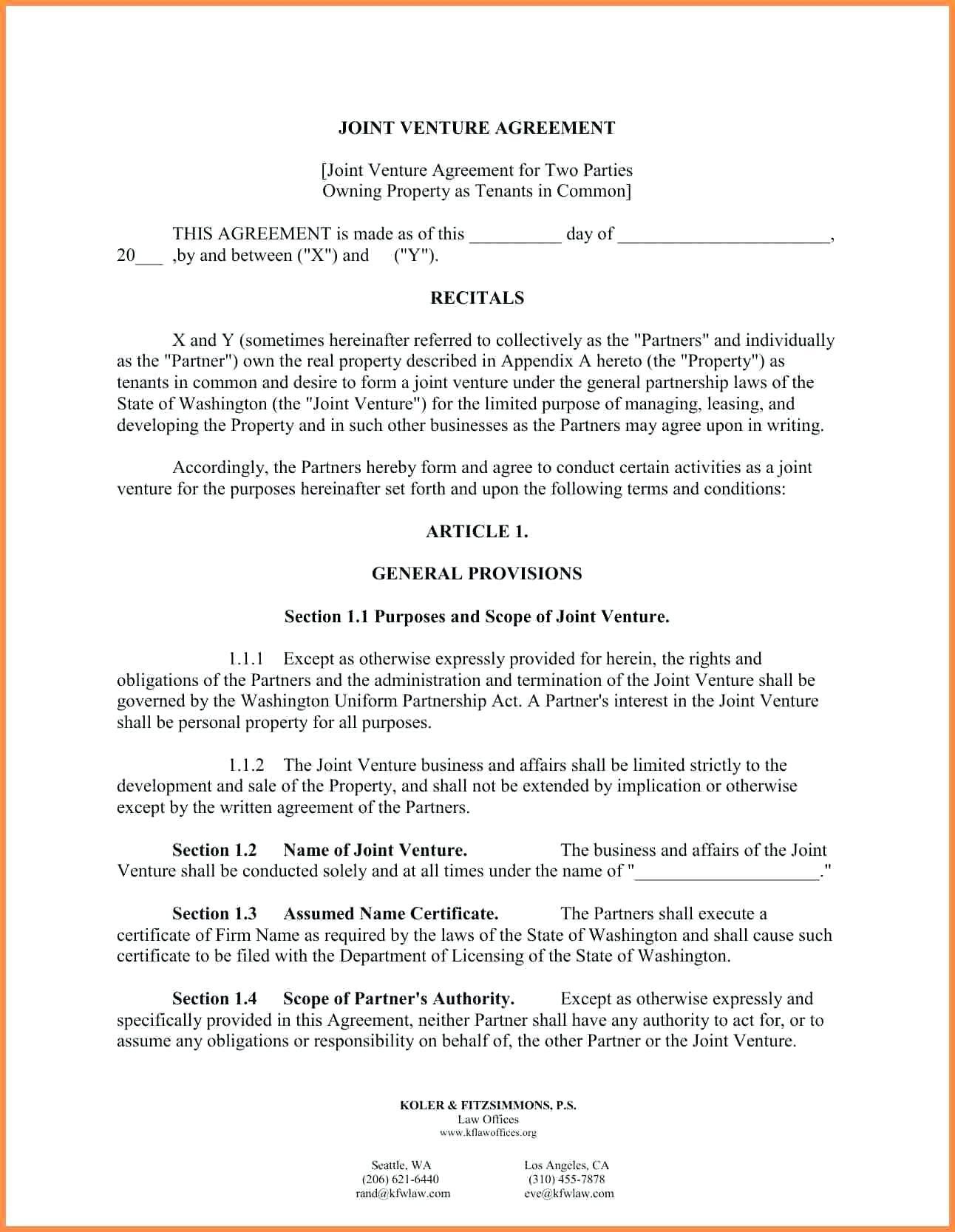 Business Contract Terms And Conditions Template