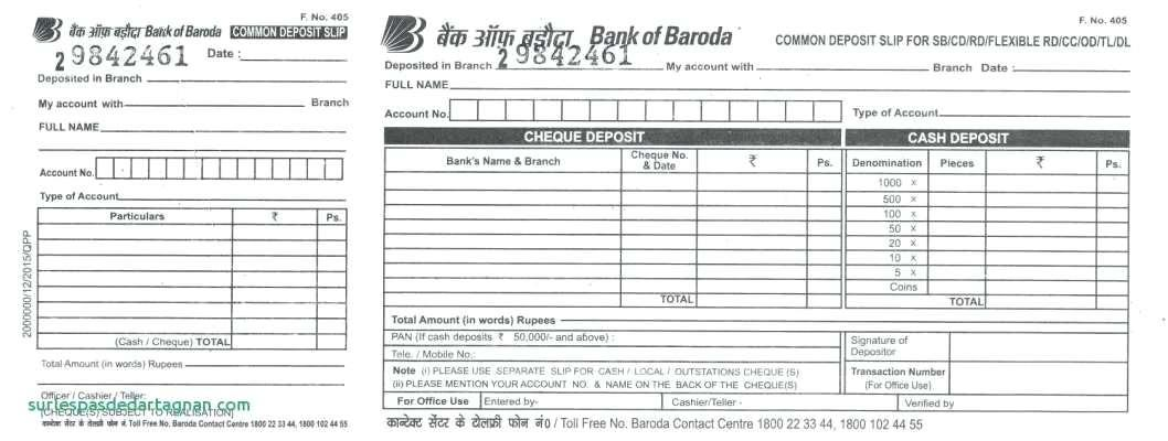Business Deposit Slips Template