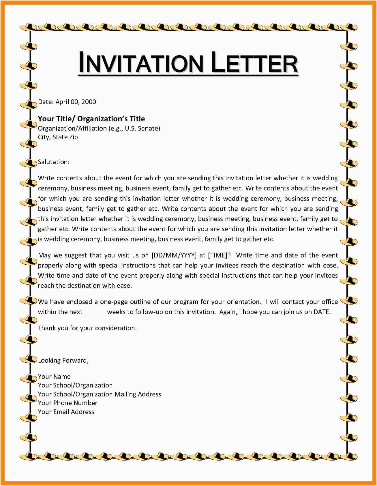 Business Event Invitation Sample