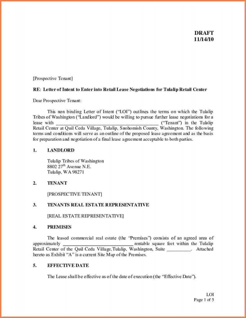 Business Lease Proposal Template