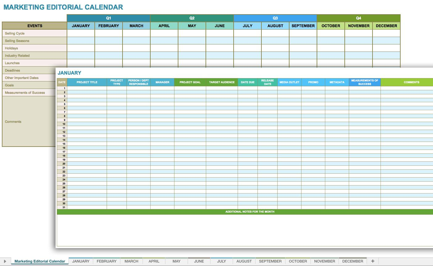 Business Monthly Budget Spreadsheet Template
