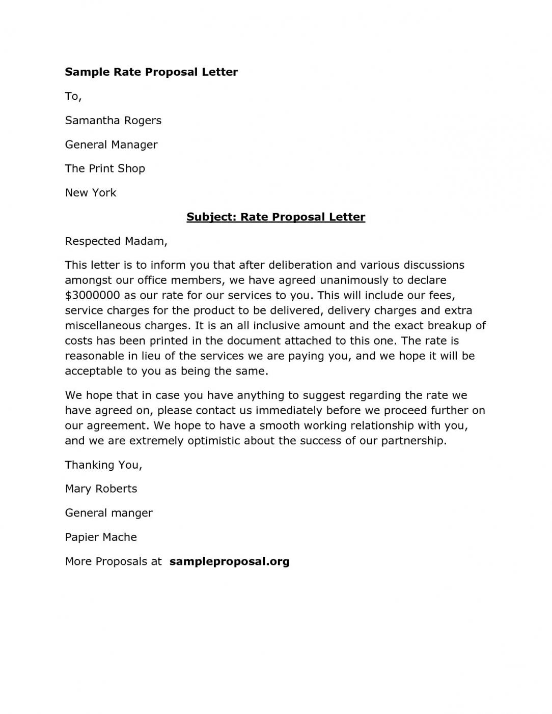 Business Partnership Proposal Letter Template