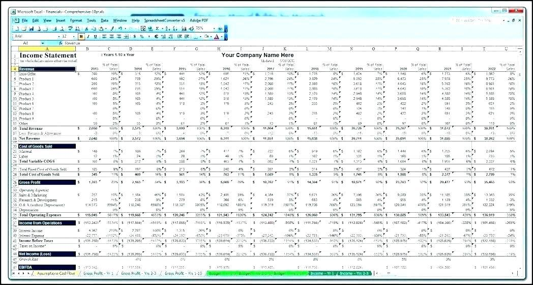 Business Plan Financial Projection Template