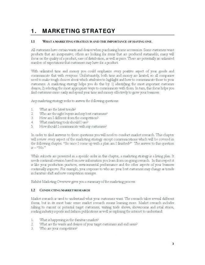 Business Plan Format For Franchise