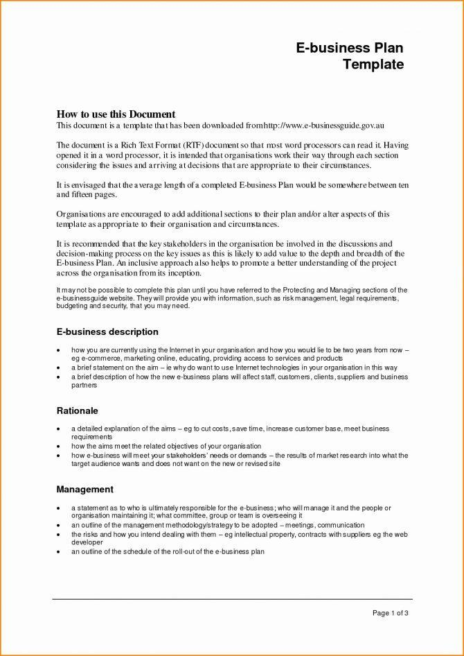 Business Plan Template For Cake Shop