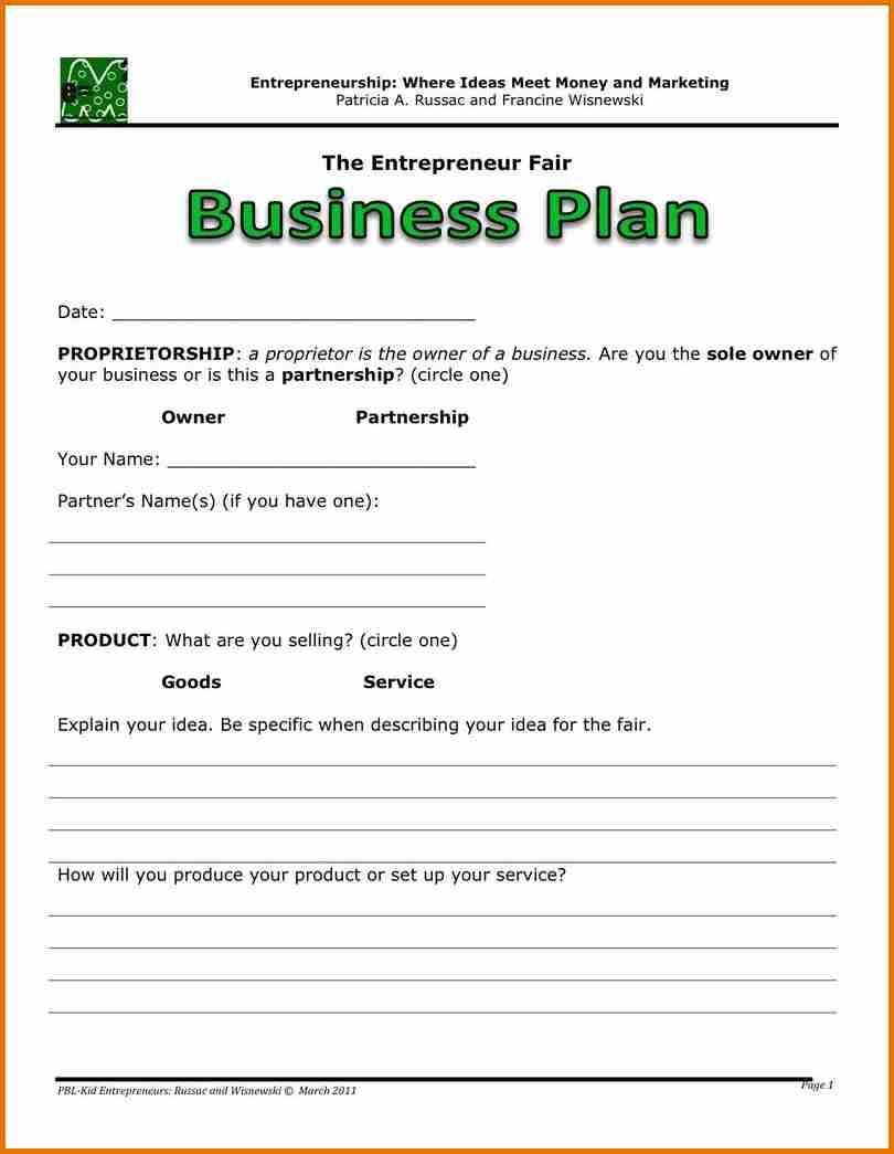 Business Plan Template For Cyber Cafe