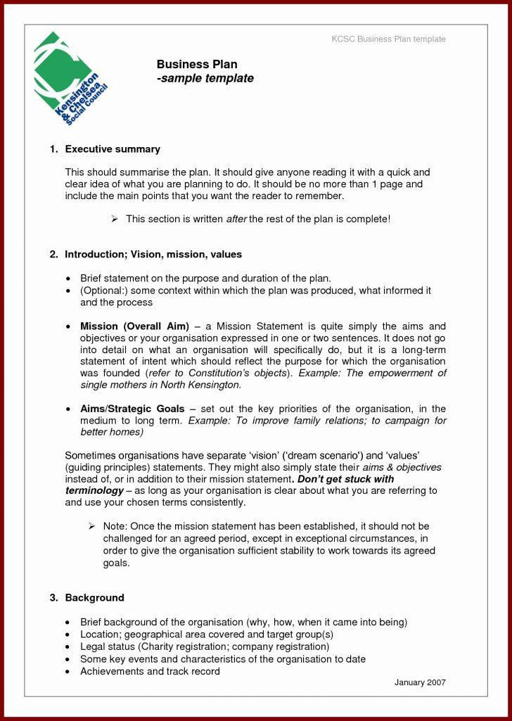 Business Plan Template For Sba Loan