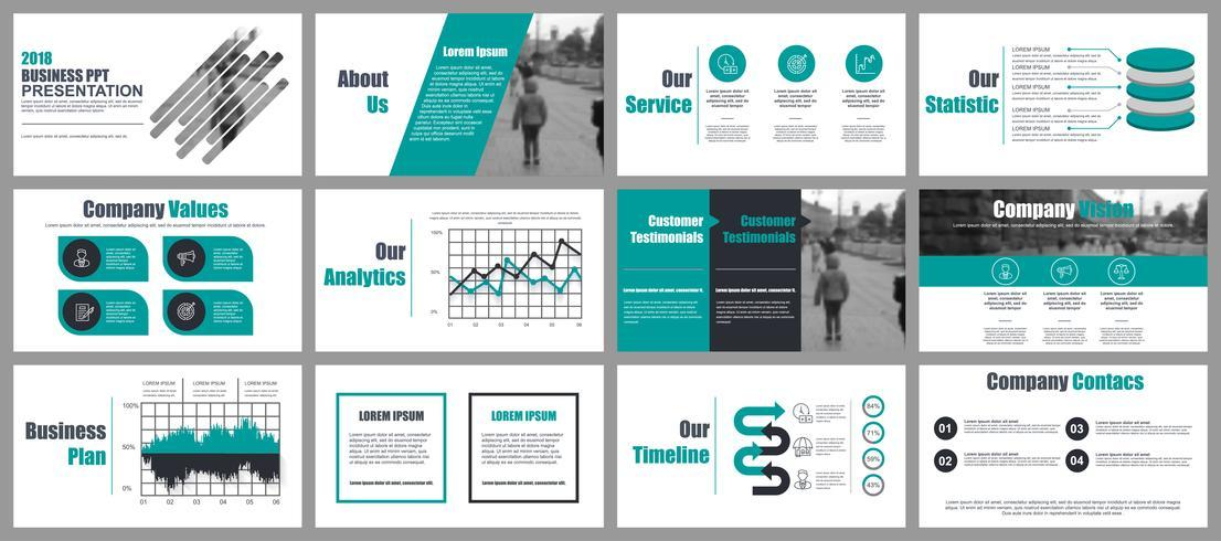 Business Powerpoint Templates Vector