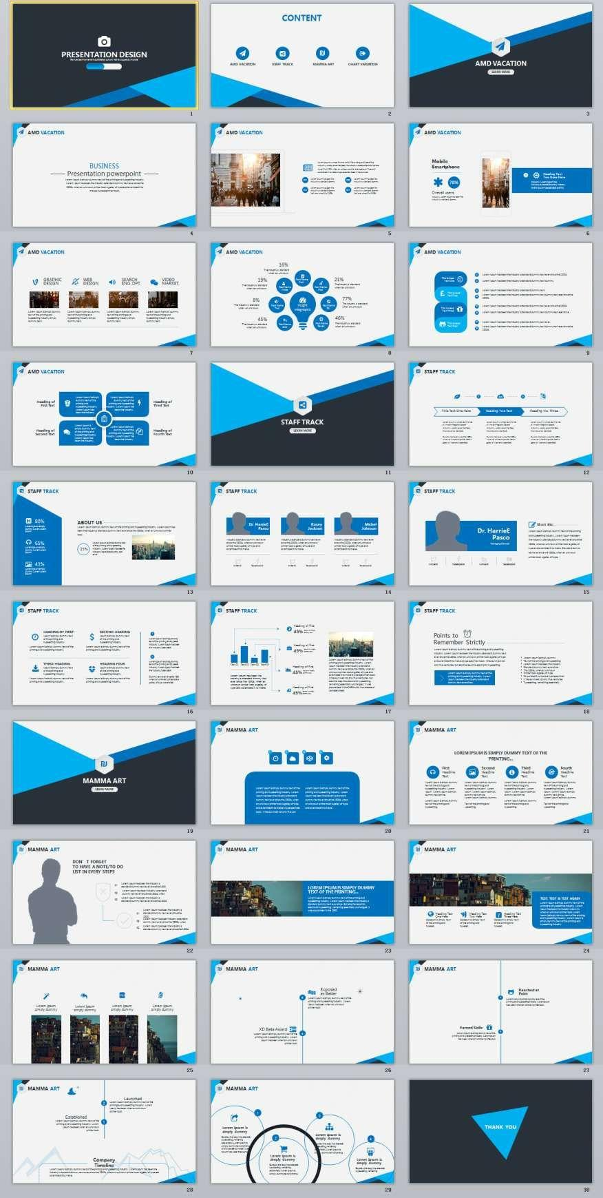 Business Presentation Templates Pinterest