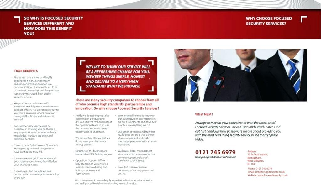 Business Training Brochure Template Free