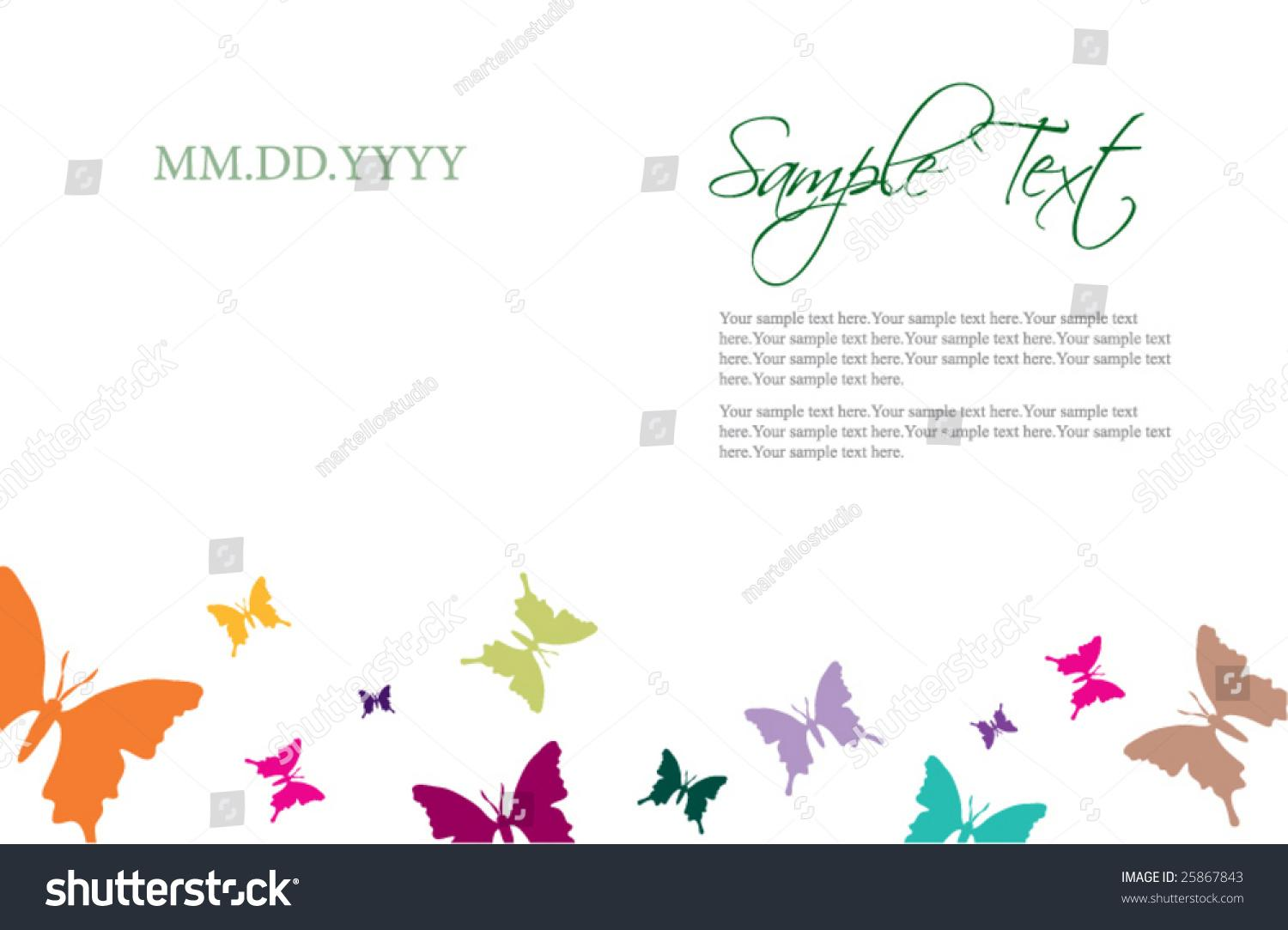 Butterfly Invitation Template Free