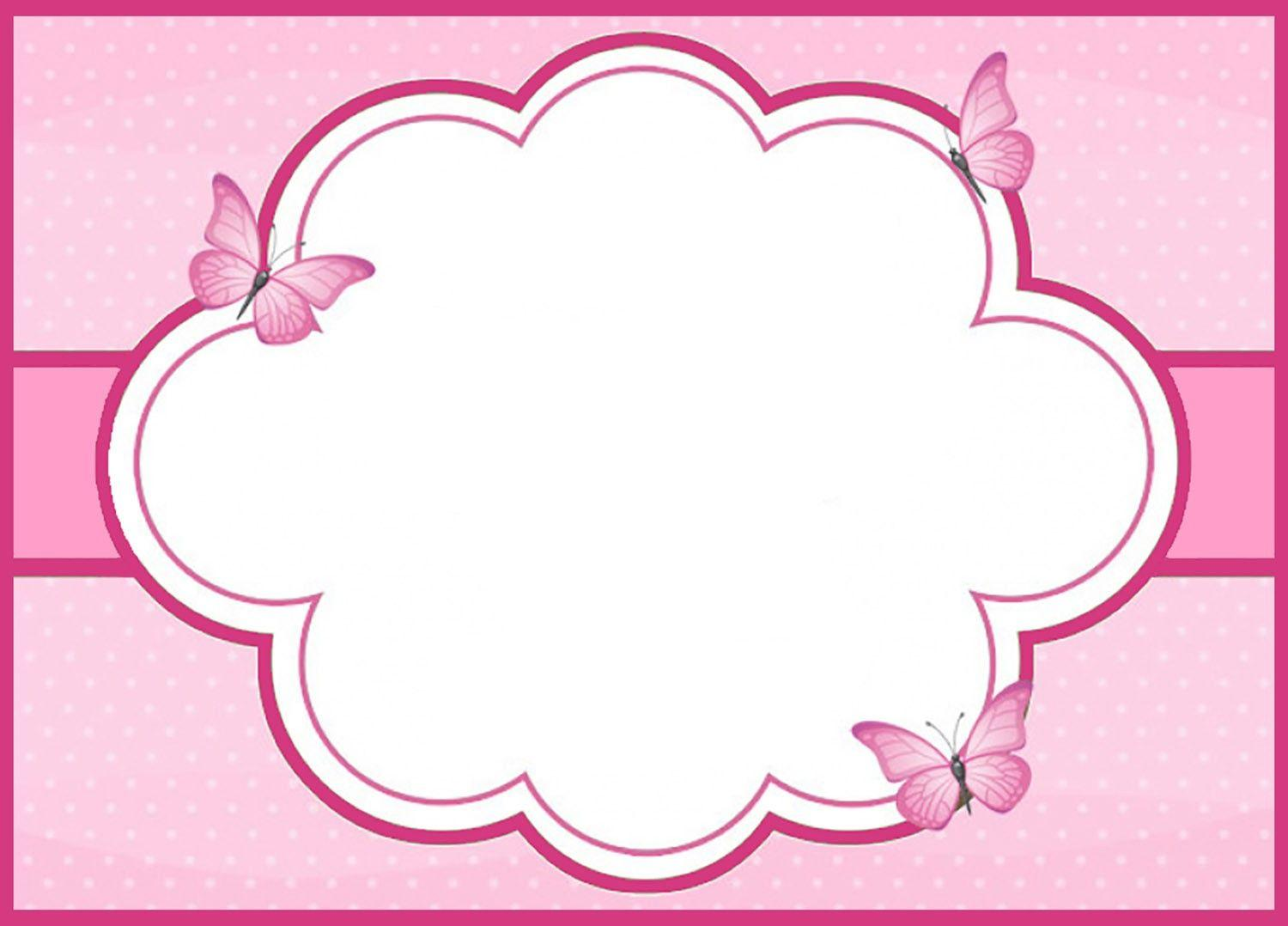 Butterfly Party Invitations Templates