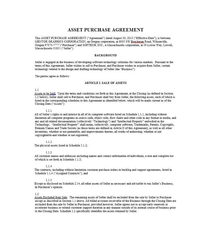 Buy Sell Agreement Template Download
