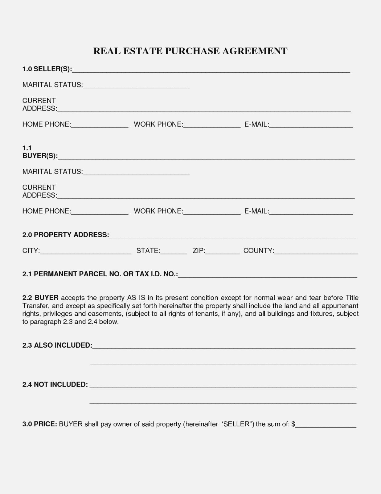 Buyer Seller Agreement Form