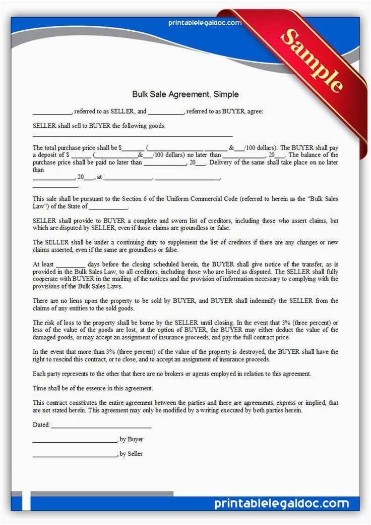 Buyer Seller Contract Template