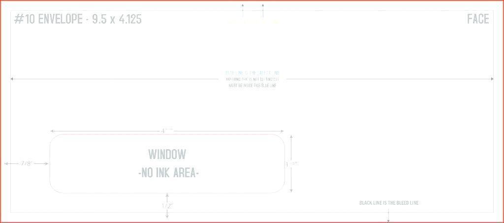 C4 Window Envelope Template Word