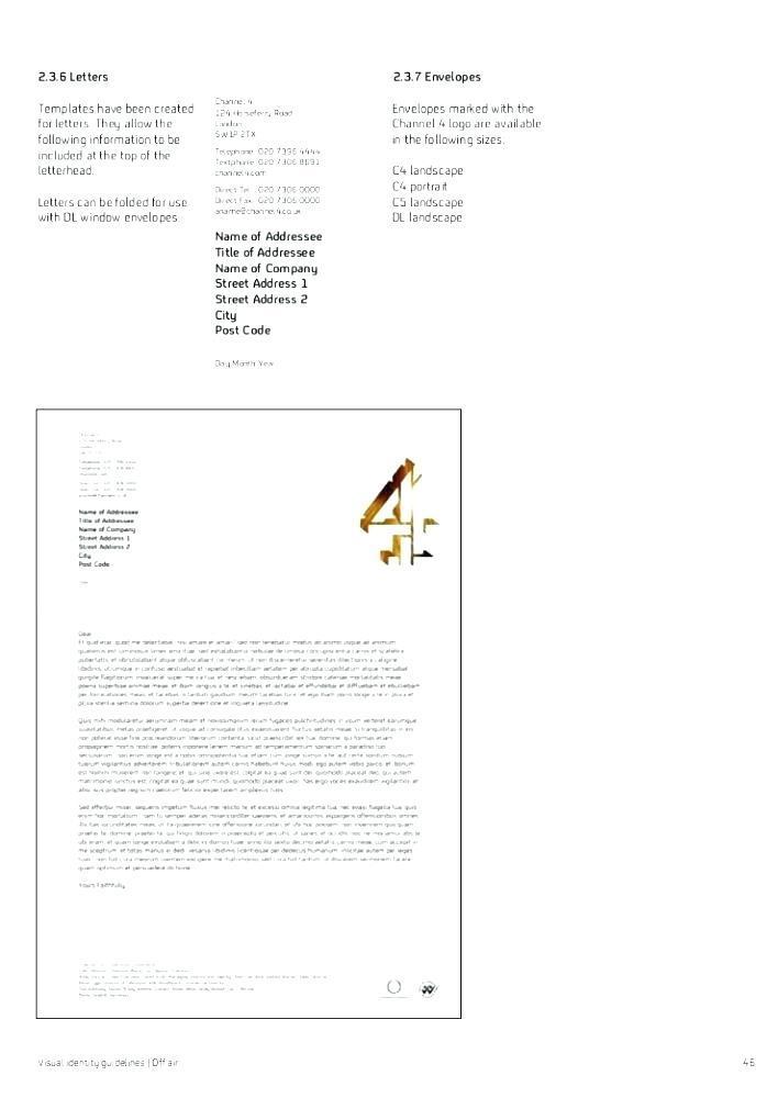C4 Window Faced Envelope Template