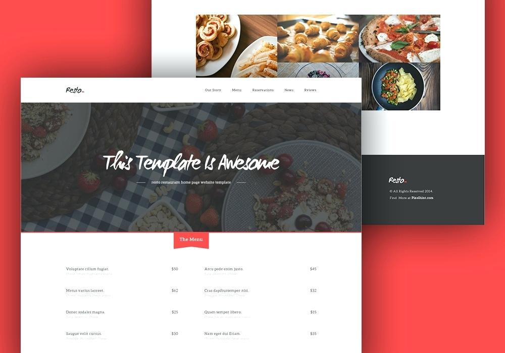 Cafe Duke Restaurant Html5 Template Free Download