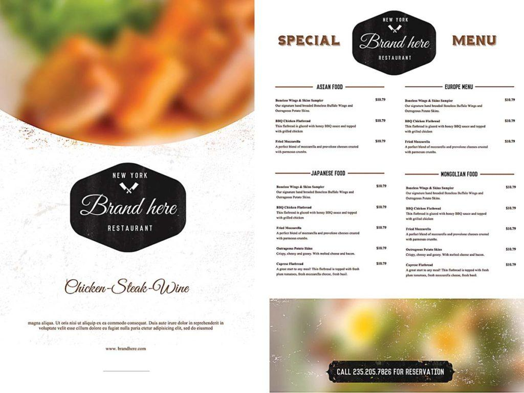 Cafe Menu Template Free Download