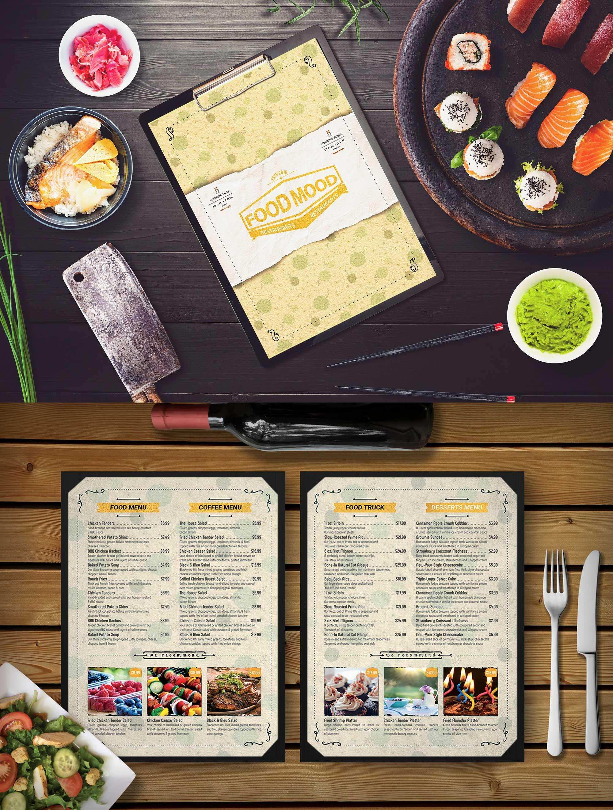 Cafe Menu Template Free Psd