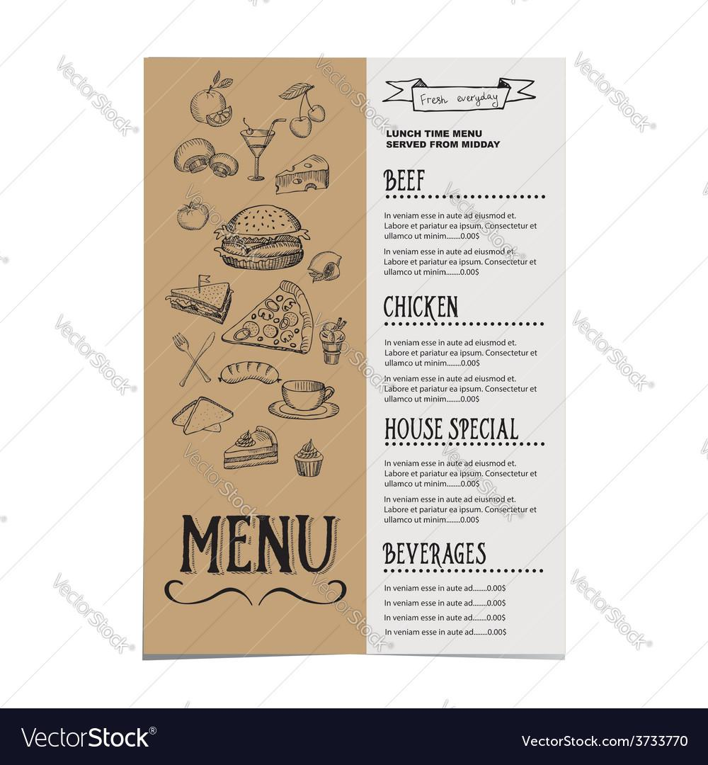 Cafe Menu Template Free Vector