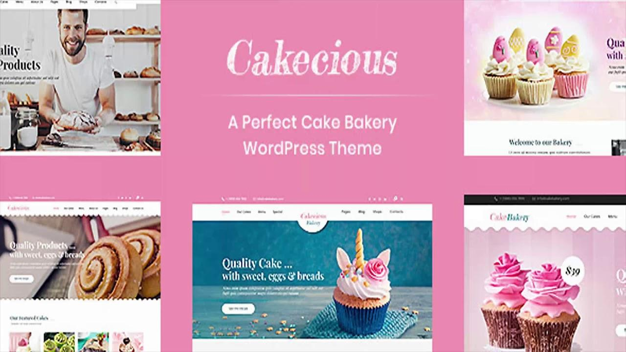 Cake Bakery Website Templates
