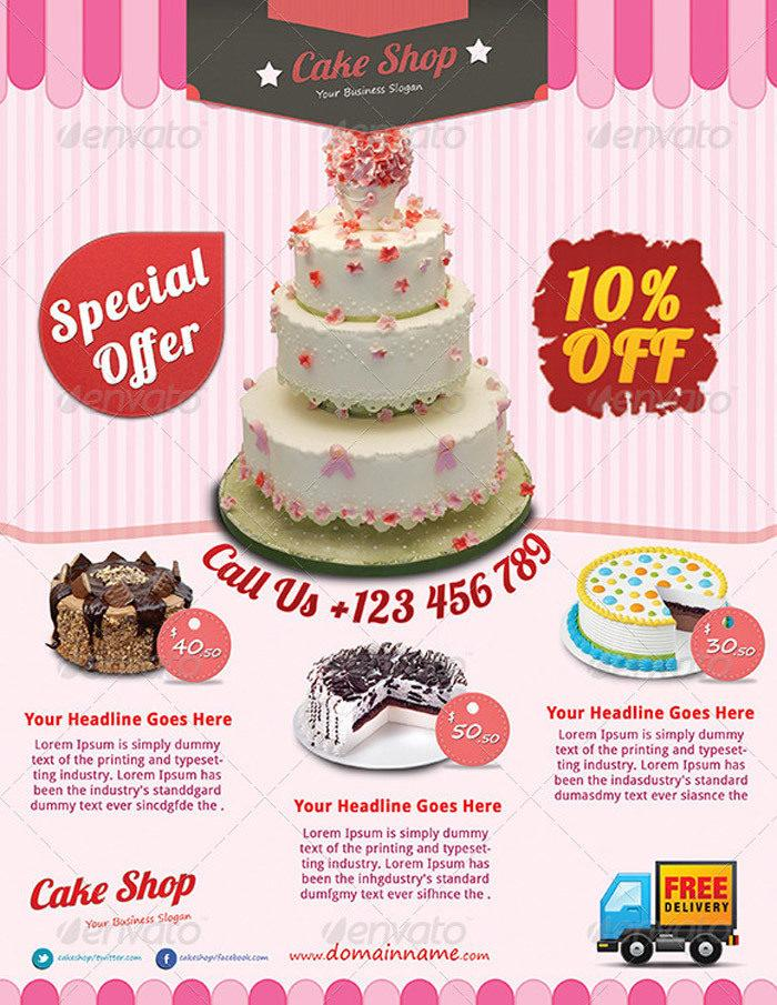 Cake Business Flyer Templates Free