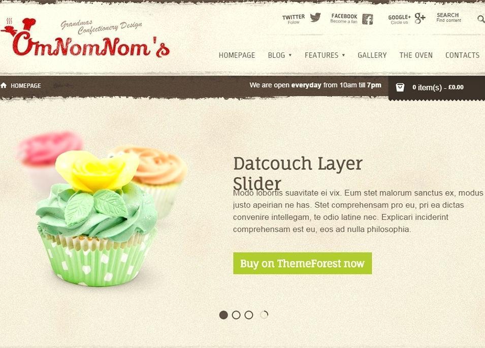 Cake Decorating Website Templates